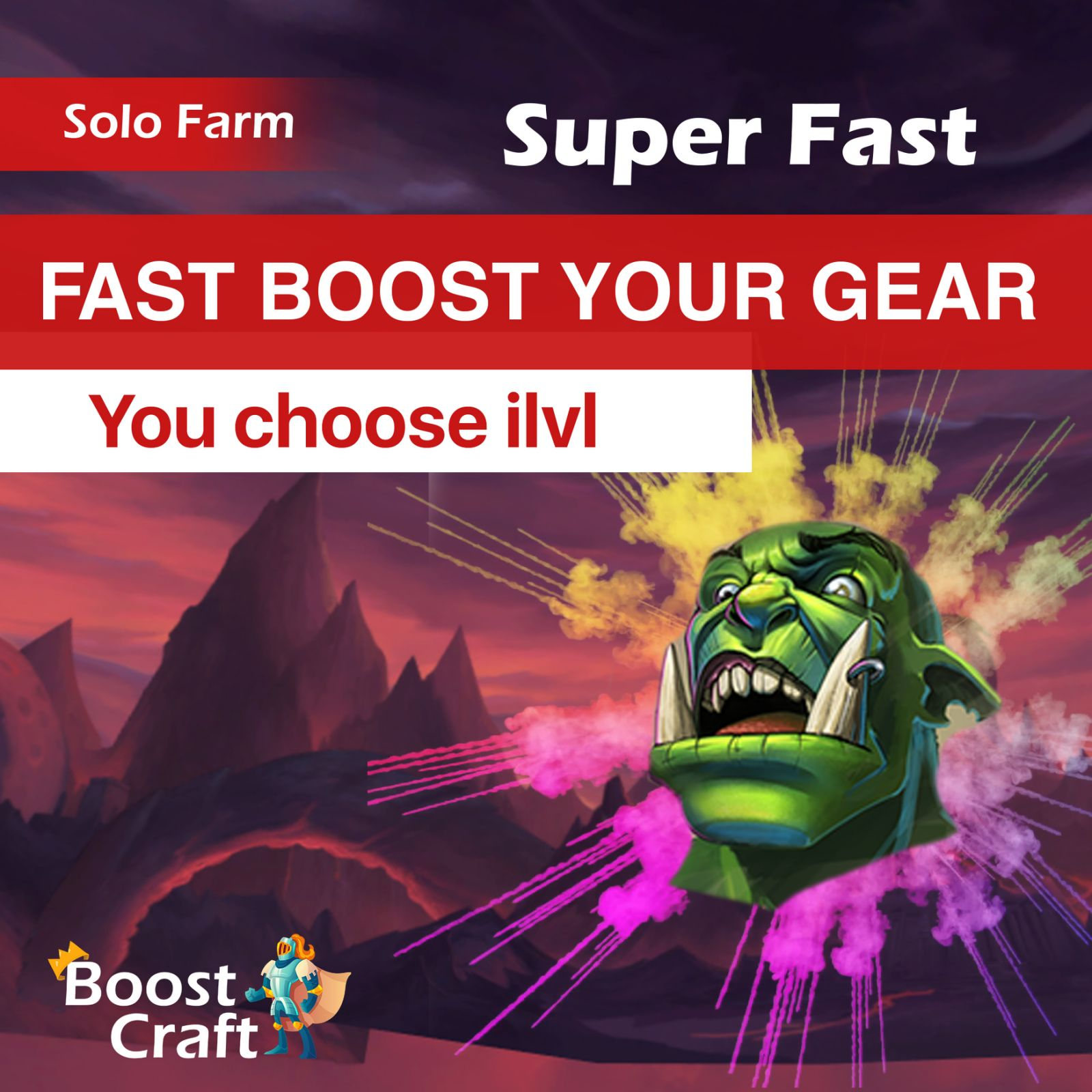 WoW Gear boost – You choose item level (up to 130+ ilvl)