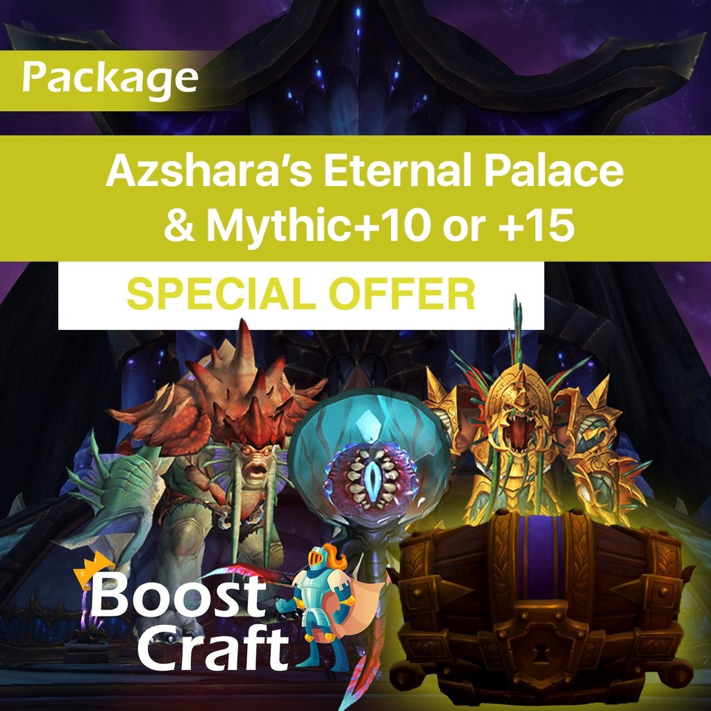 Weekly Azshara's Raid package (Heroic run + Mythic+10/15) – Boost