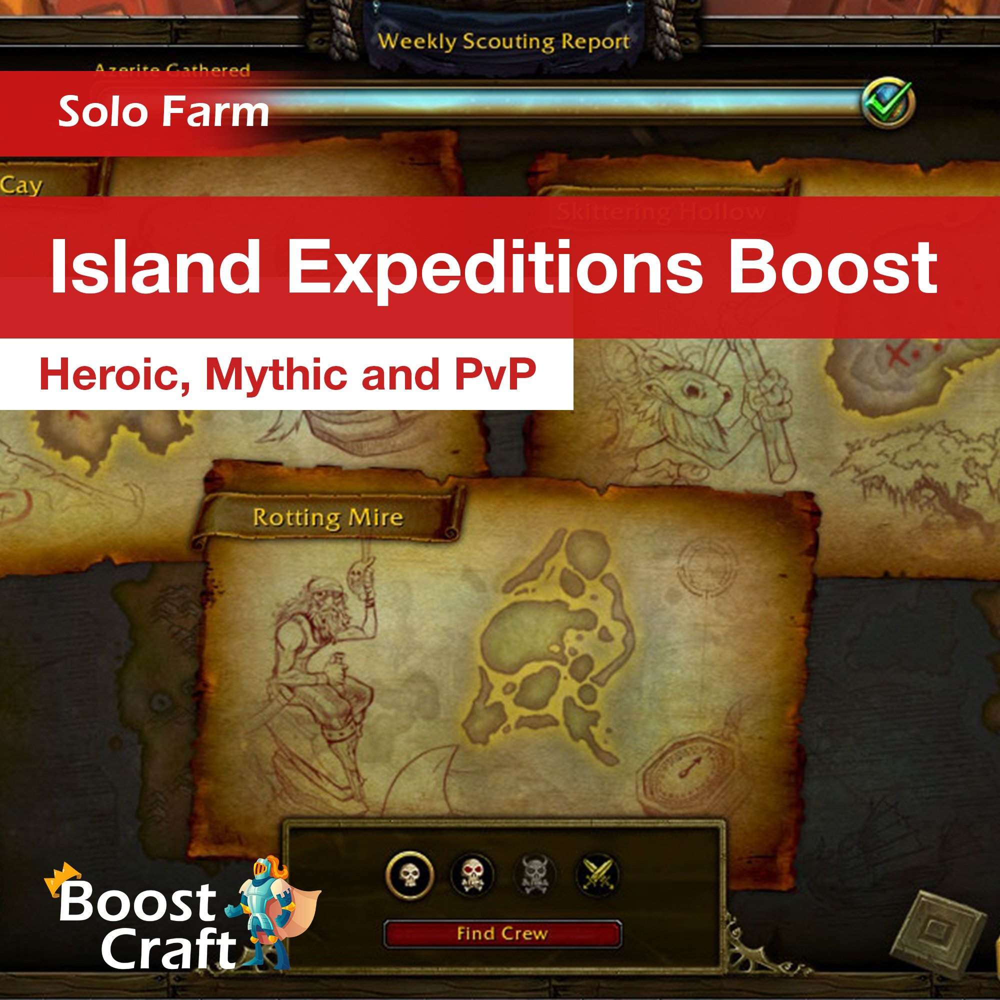 Island Expeditions (heroic/mythic/PvP) – Boost