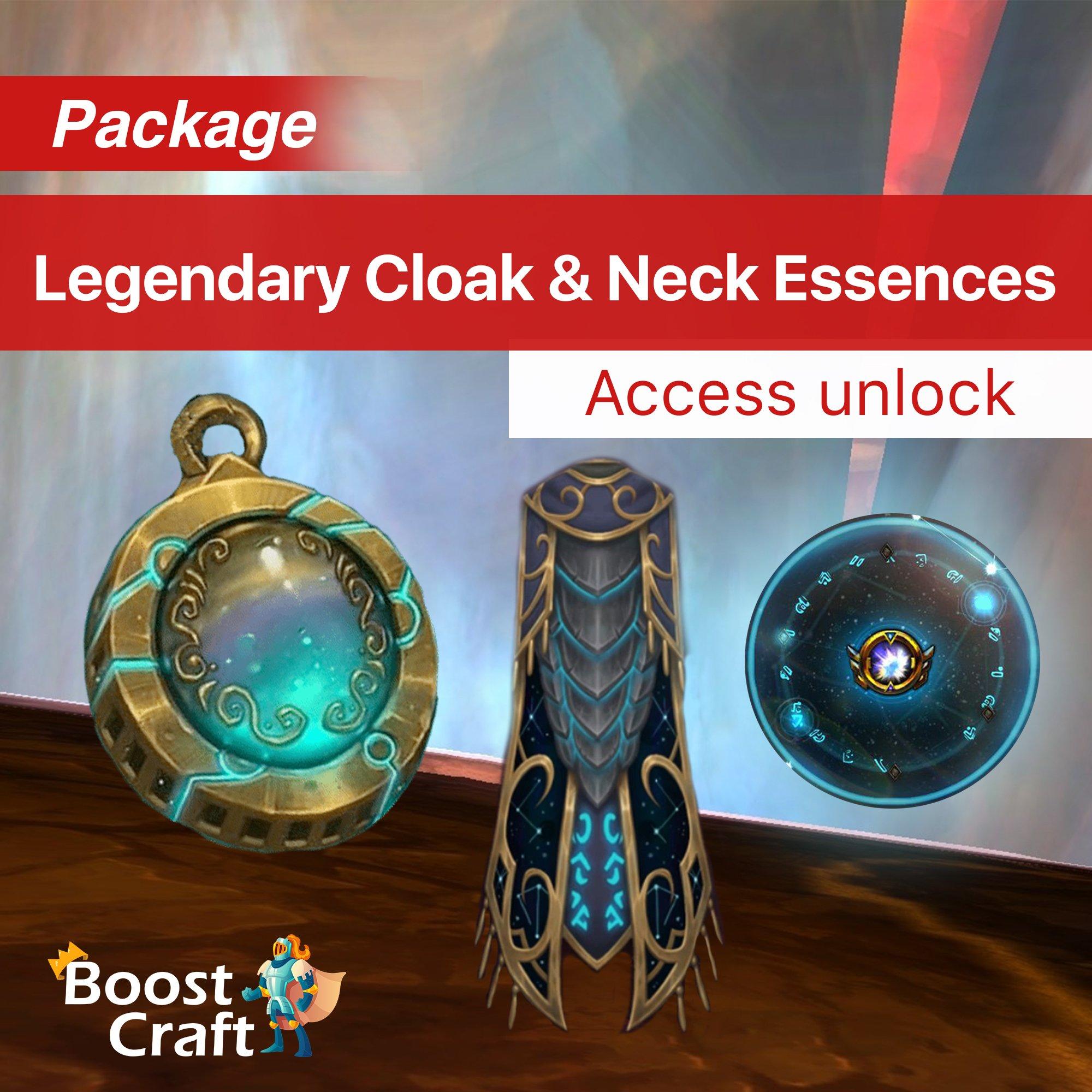 Legendary Cloak & Neck Essences Unlock – Package for Alt's