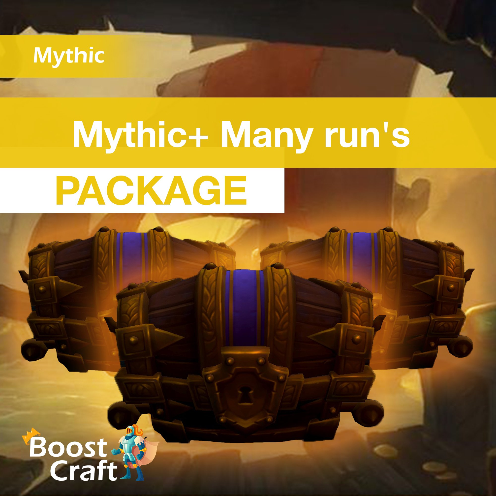 Package of Mythic+ runs, Mythic+ dungeons boost
