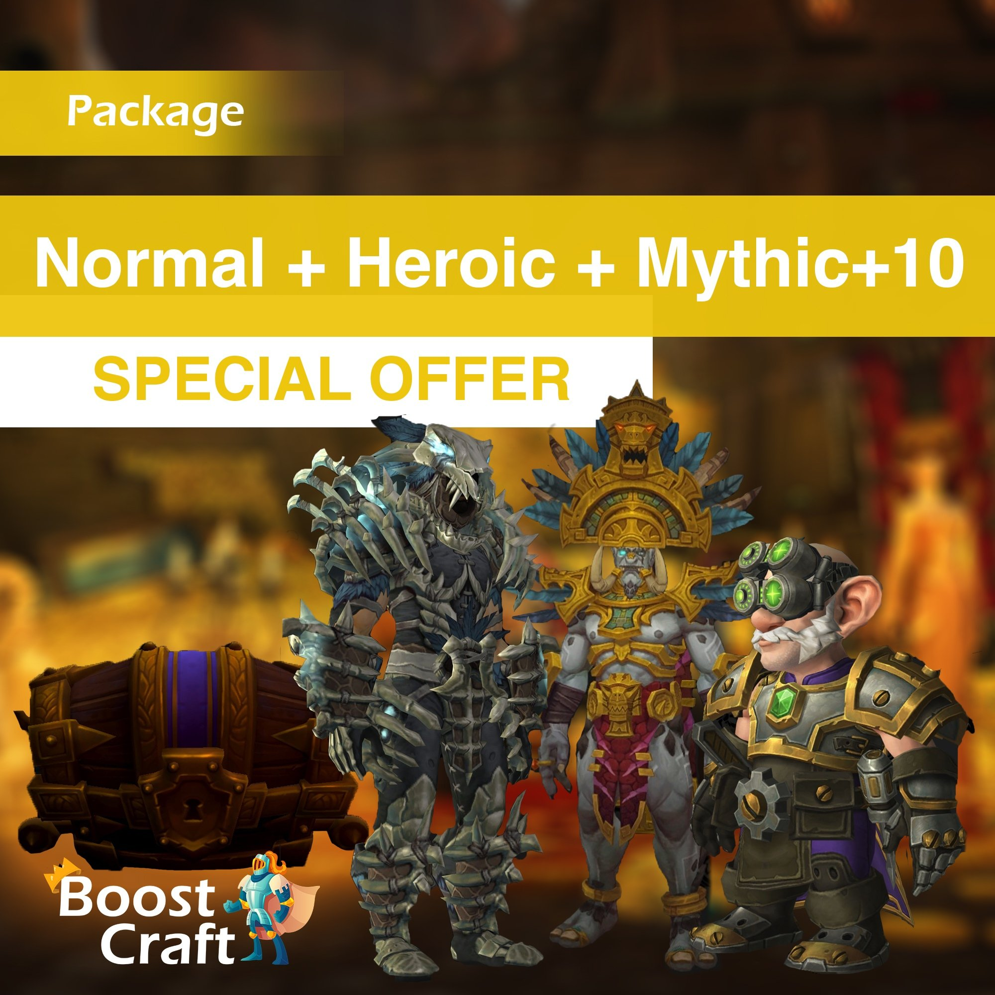 Weekly BoD package (Normal+Heroic run and mythic+10) – Boost