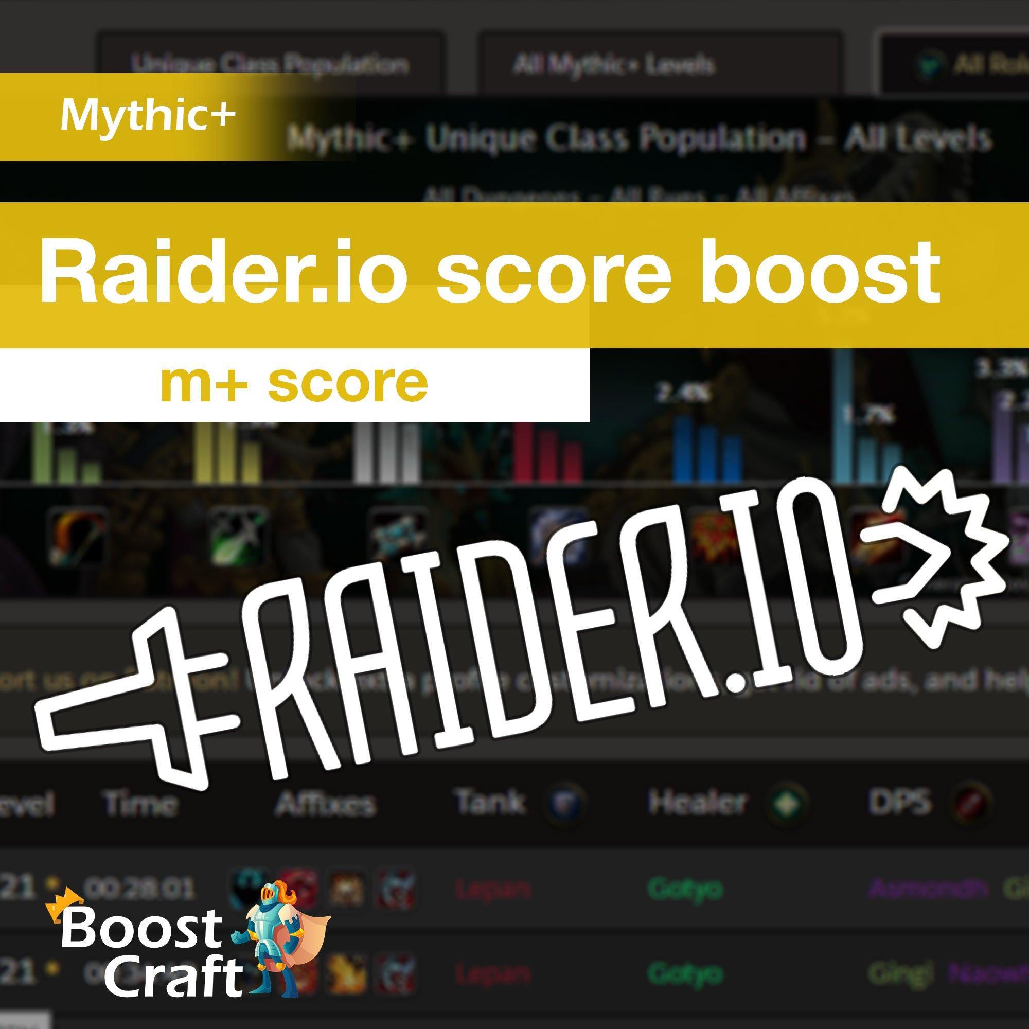 Raider.io score boost (mythic score m+ score rio score)