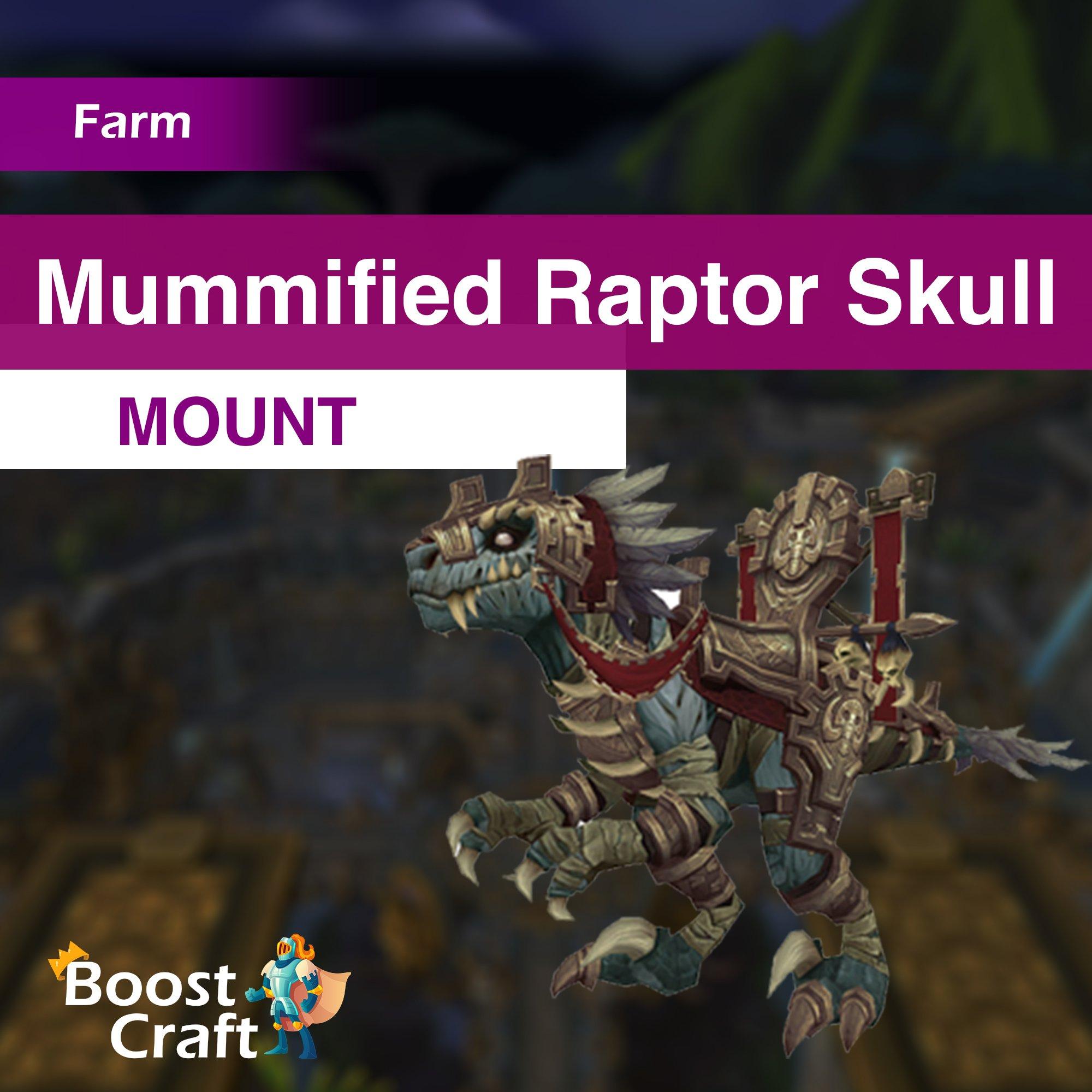 Mummified Raptor Skull – Mount Farm
