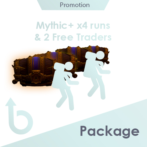 PACKAGE for 4 runs to Mythic+ with 2 FREE traders (Discounted Price)